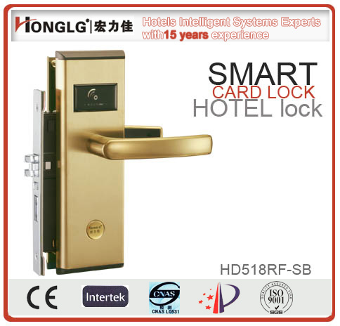 High Quality Stainless Steel Smart Card Hotel Lock (HD518)