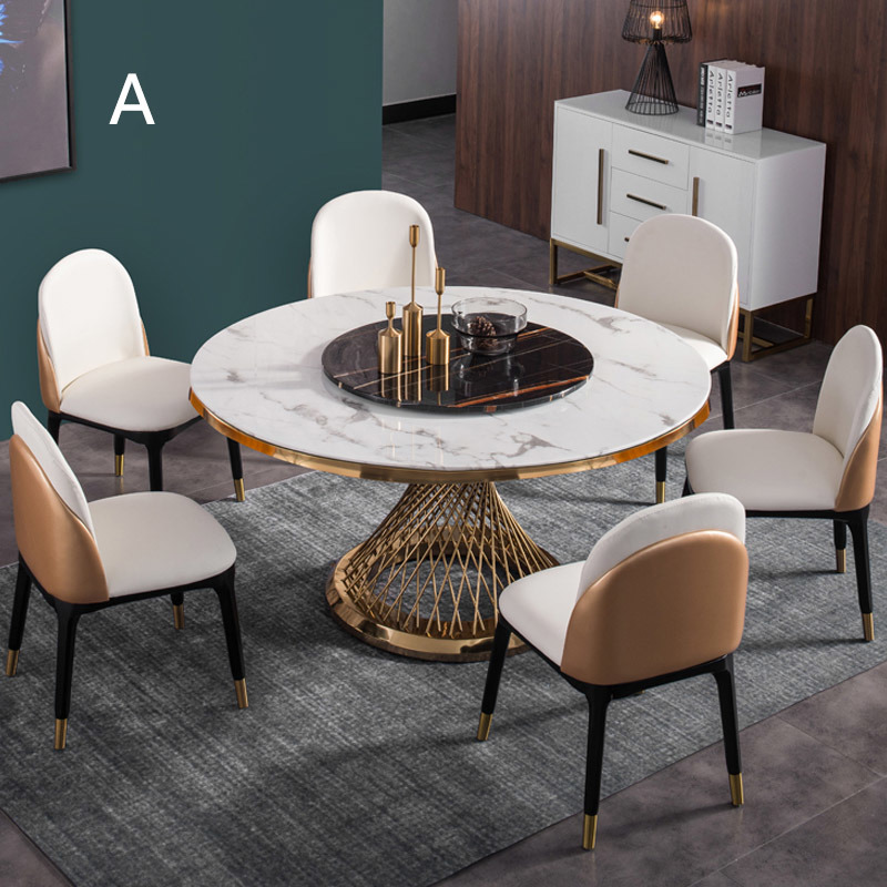 Mdf Marble Top Dining Room Table Sets, Marble Top Dining Room Table