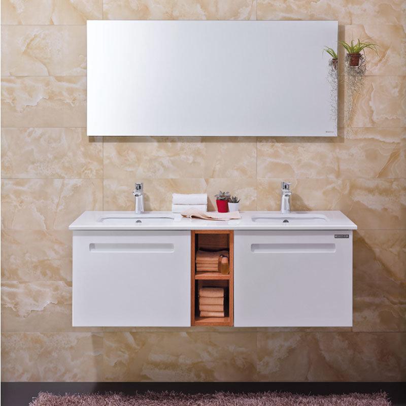 China Oppein Modern Plywood Bathroom Vanities With Double Basin Op13 010 130 Vanity Cabinet