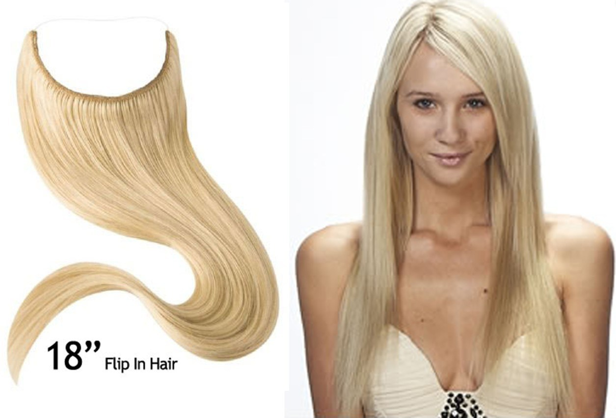 China Flip In Hair Extension Fish Wire Hair Extensions China Flip