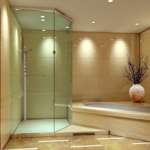 China Mm Thick Cut To Size Clear Toughened Shower Room Door - Glass floor panels for sale