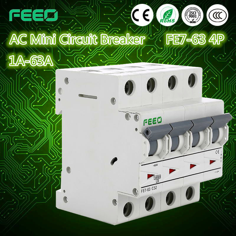 China Feeo Hot 4pole AC 4 AMP Circuit Breaker - China Hydraulic ...