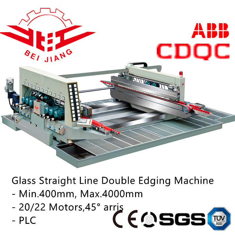 Edging Glass Straight Line Double Edging Machine