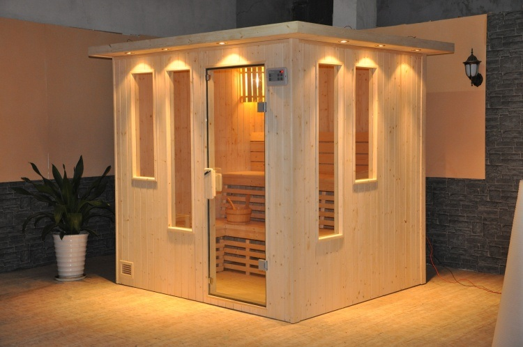 Traditional Dry Sauna Cabin with CD Player (A-202)