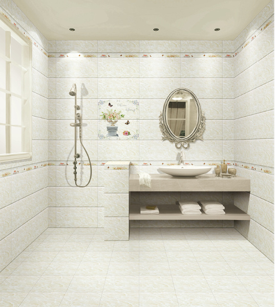 30x60 White Marble Look Bathroom Wall