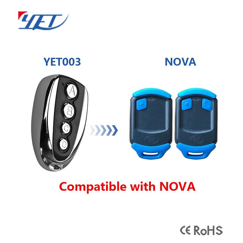 China Replacement Remote Nova Garage Door Remote Control 433 92mhz