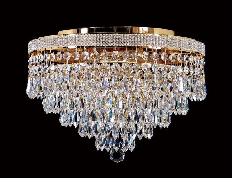 China Classical Empire Flush Mounted Low Ceiling Lamps Entrance Hall Clear K9 Crystal Chandelier Lighting China Led Lamp Led Lighting