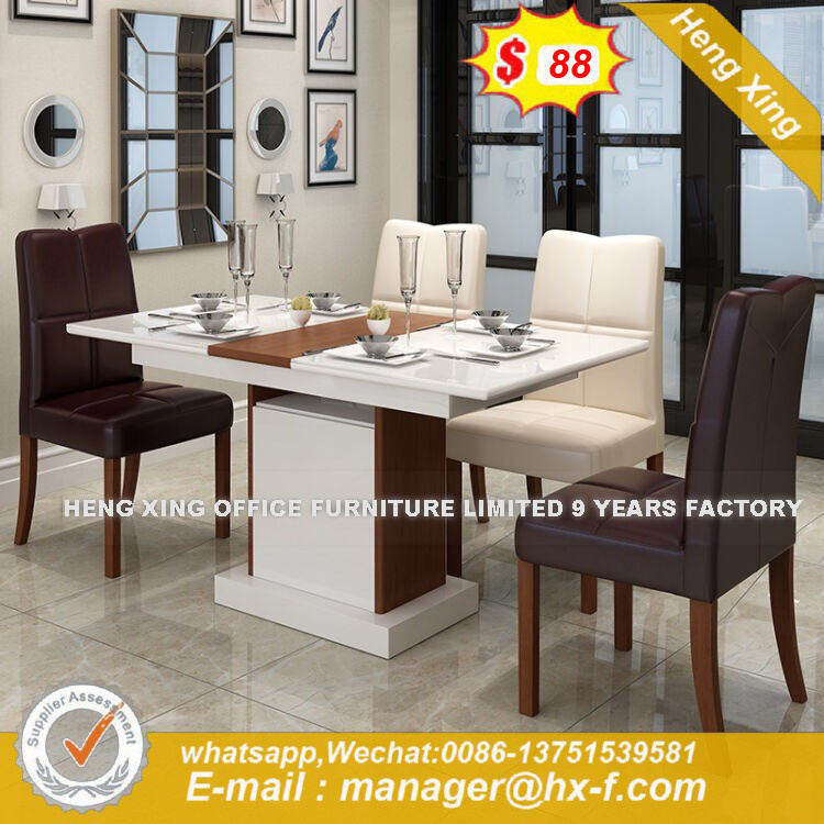 Modern Style Steel White Marble Dining Table Hx 8dn001