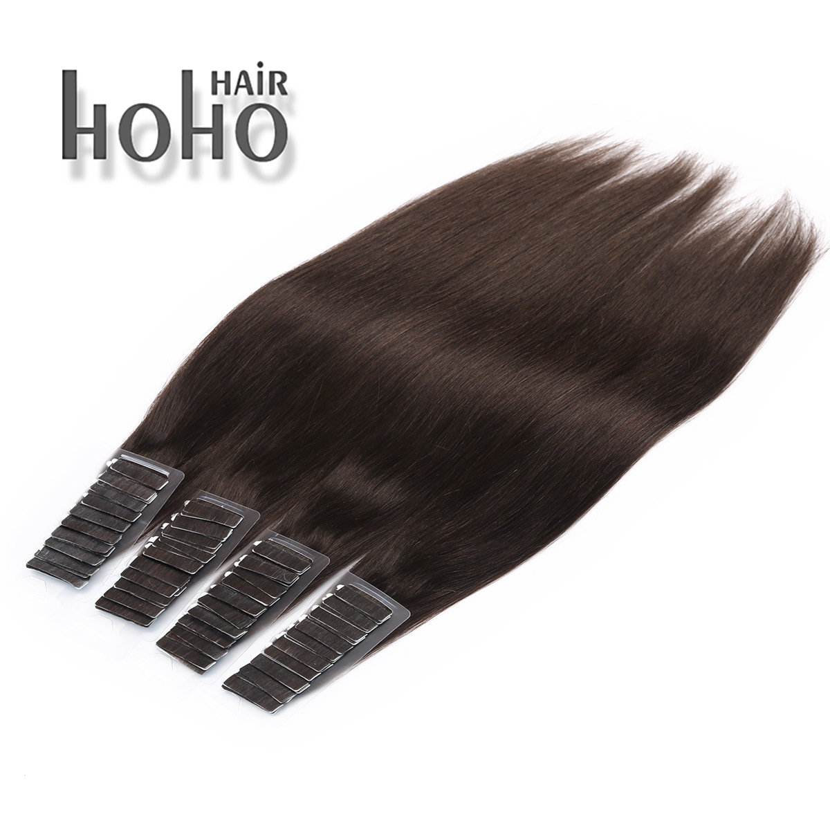 China Brown Double Drawn Remy 16 Inch Tape In Human Hair Extension