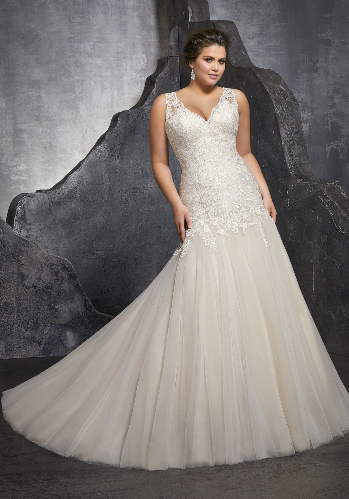 [Hot Item] Sleeveless Bridal Gowns Plus Size Mermaid Wedding Dress Lb3236
