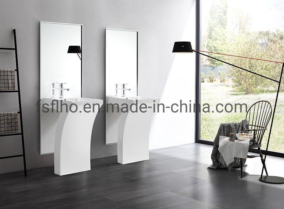 China Fancy Italian Pedestal Acrylic Resin Stone Bathroom Floor
