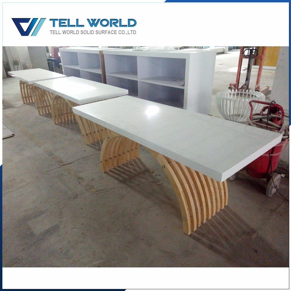 Office Worktop Design Computer Desk Acrylic Solid Surface Workstation