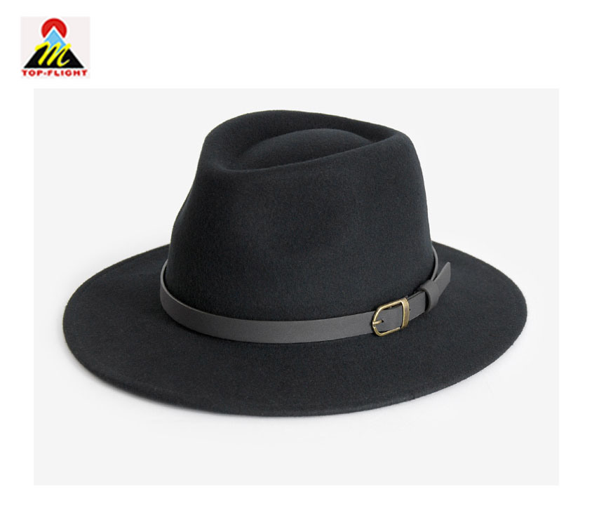 91099f97d8dbd7 China Lady Custom Wool Fedora Bucket Hat with Leather Strap - China Cap,  Leisure Cap
