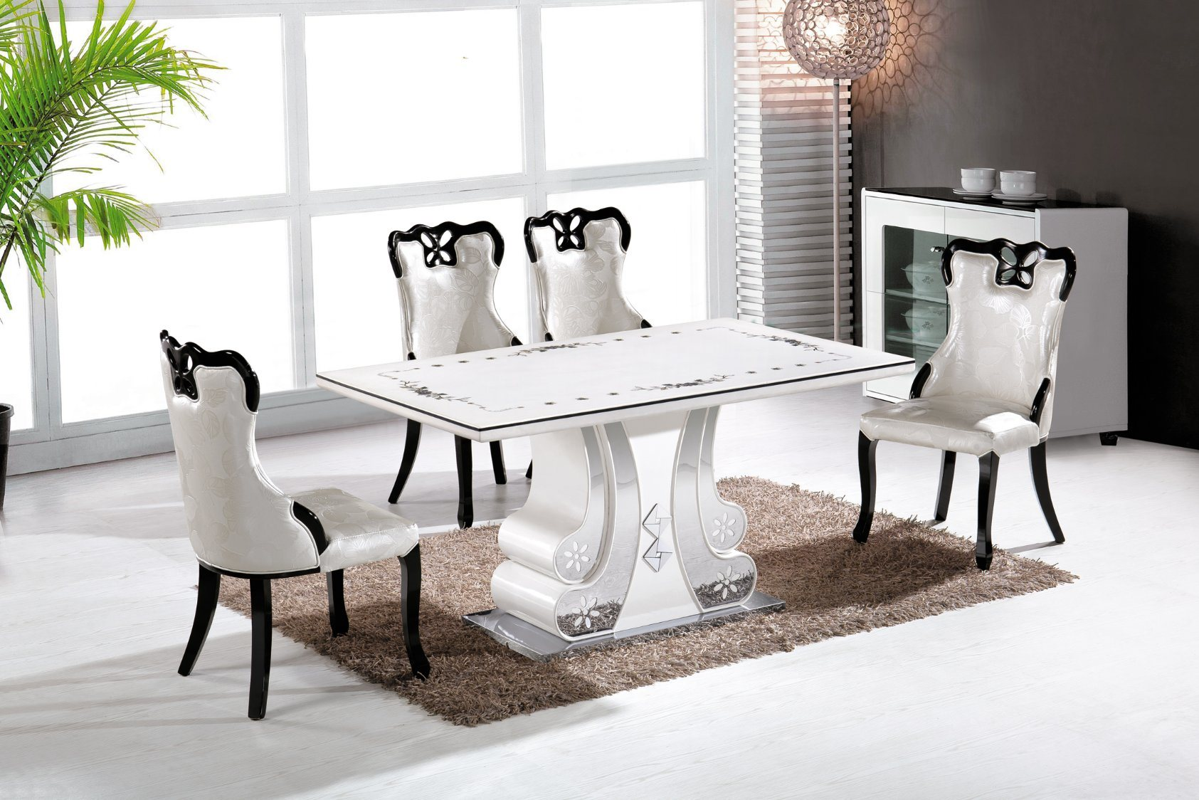 [Hot Item] 11 11 Dining Sets Modern New Design Home Furniture Dining  Table Fashion Dining Table