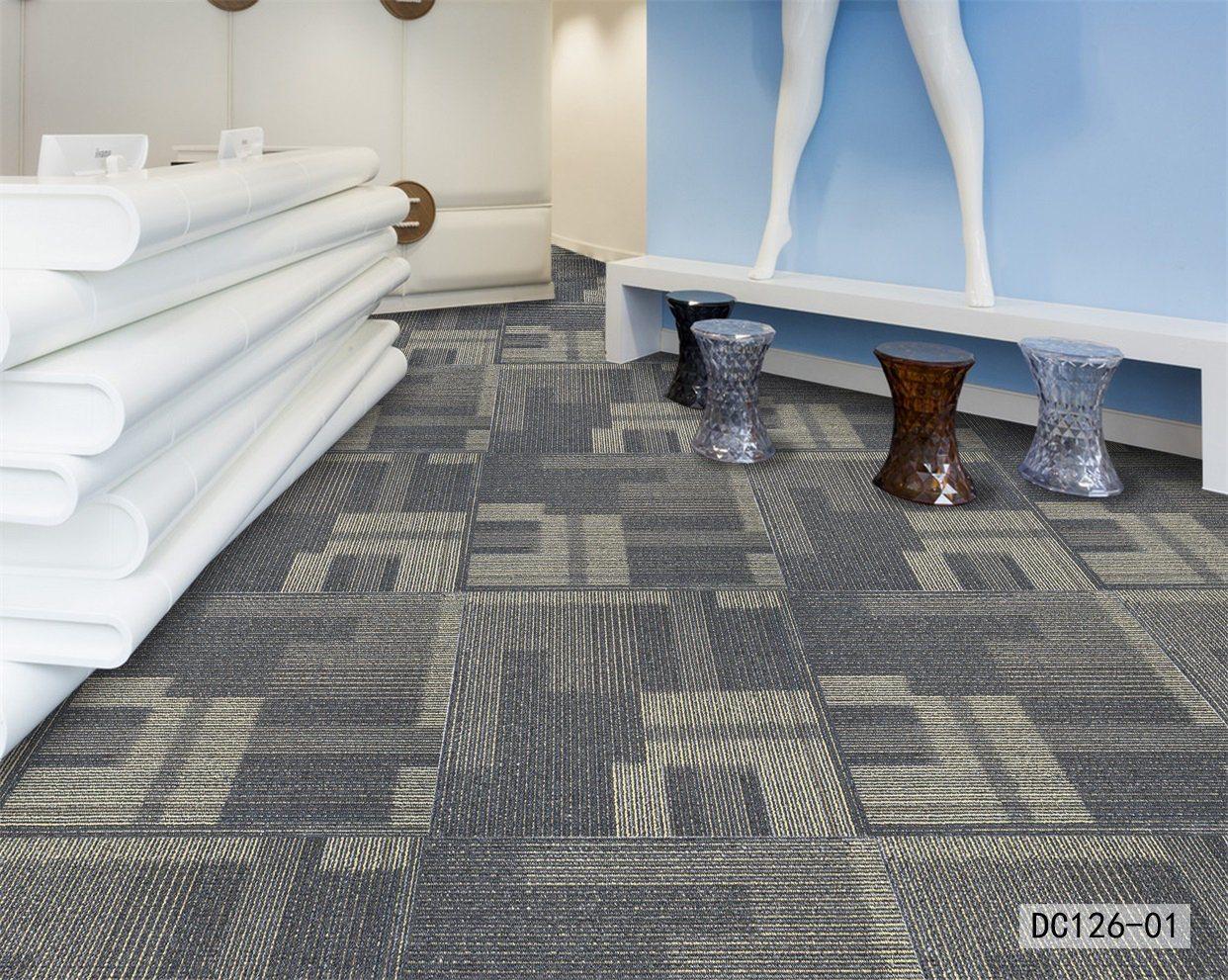 Image of: China Dc126 Commercial Hotel Home Office Carpet Tiles Nylon Pet Pp Modern Carpet Pp Surface Bitumen Backing China Commercial Carpet Tiles And Office Carpet Tiles Price