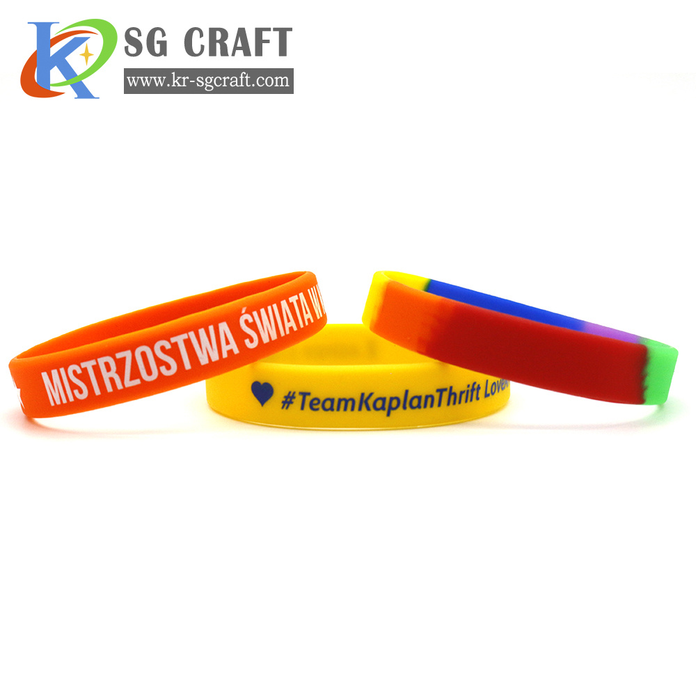 Custom Design Thin Silicone Bracelet with Rubber Wristbands Handband Silicone Wristbands