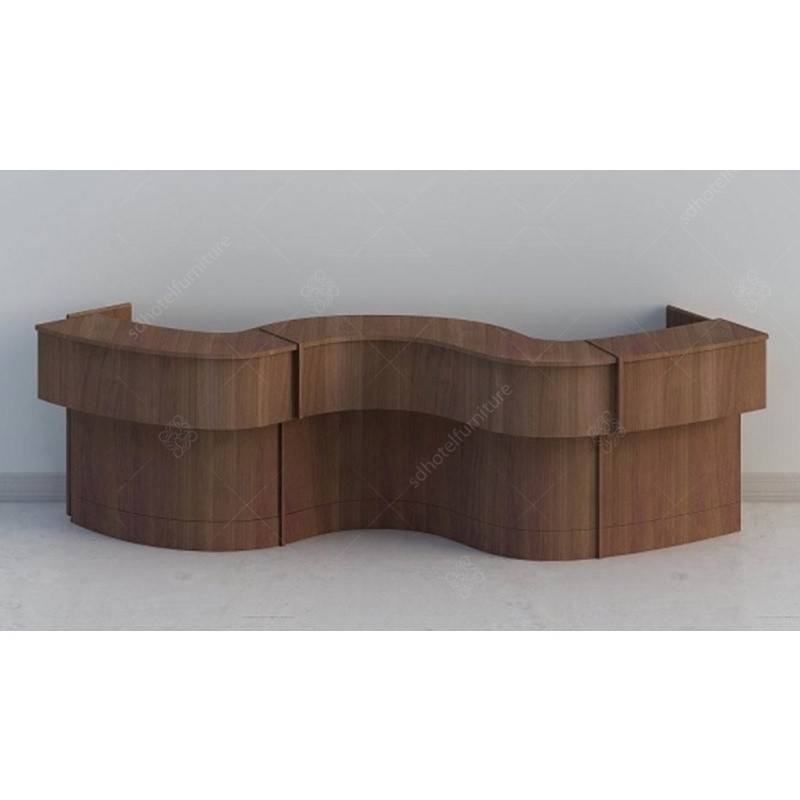 China Foshan Manufacturer Hotel Lobby Furniture Reception Counter Desk Front Table