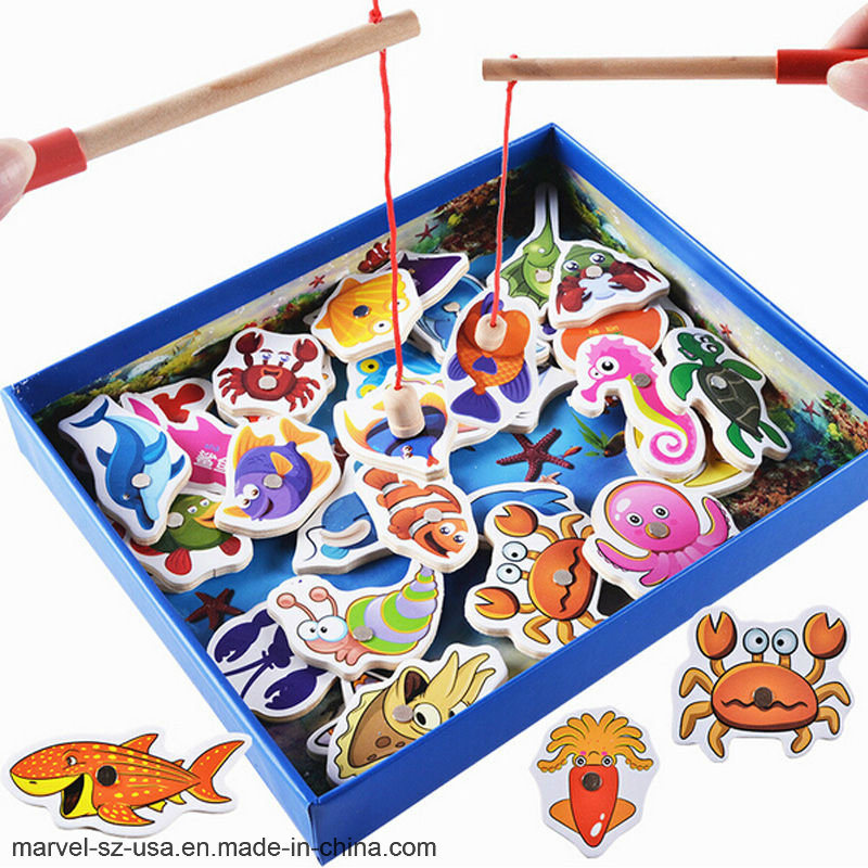 China 32PCS Kids Educational Toys Fish Wooden Magnetic Birthday ...