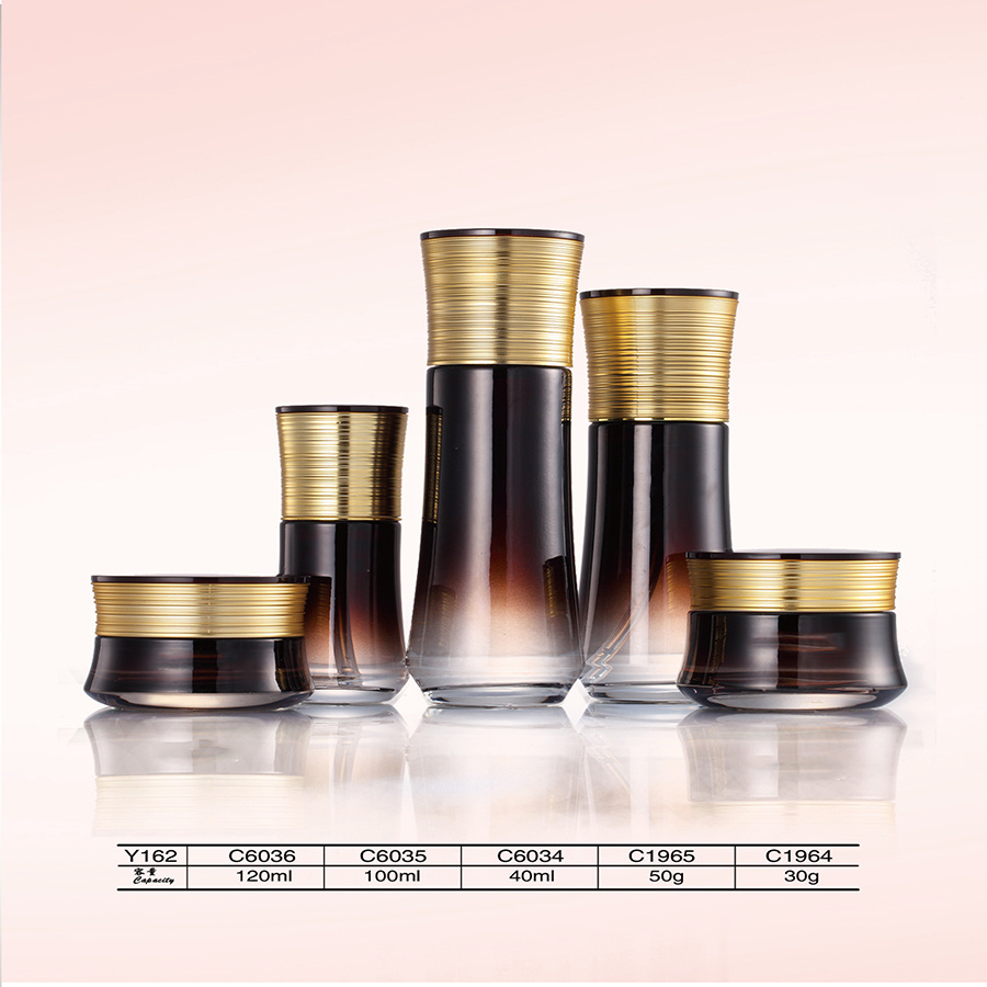 Best Quality Packaging Cosmetics Glass Jars and Airless Bottle with Aluminum Lid pictures & photos