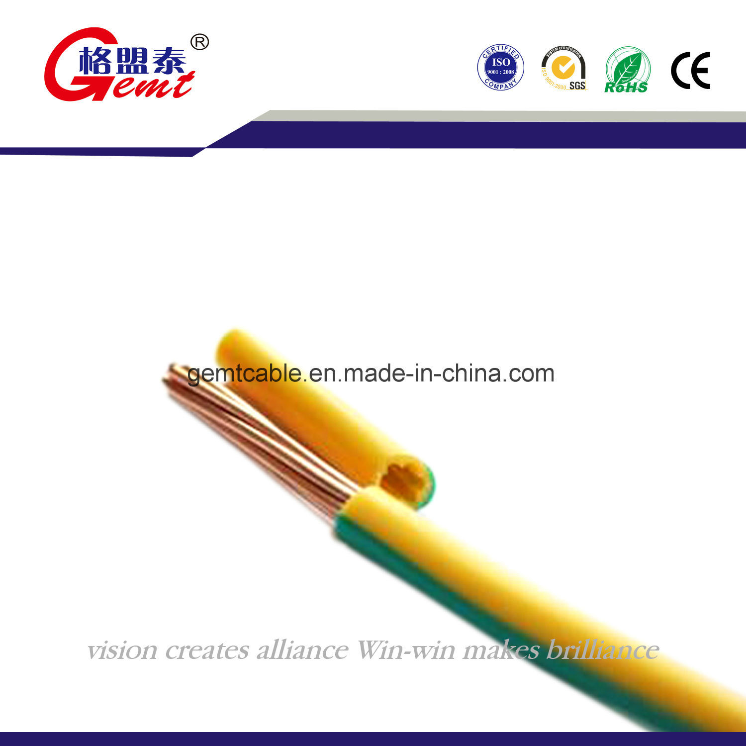 China High Quality Stranded Conductors PVC Insulated Bvr Thw Copper ...