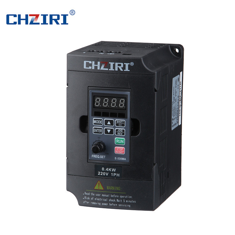 [Hot Item] Chziri 1HP 0 75kw AC Drive with Built-in RS485 Port  Zvf300-G0r7t4MD