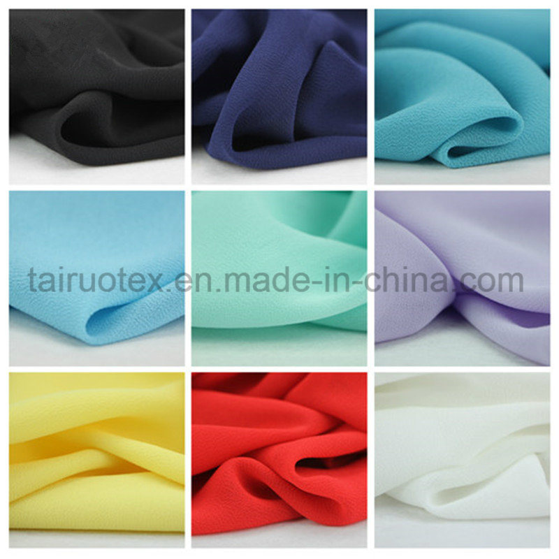 100% Polyester Silk Georgette Chiffon for Lady T-Shirt Fabric pictures & photos