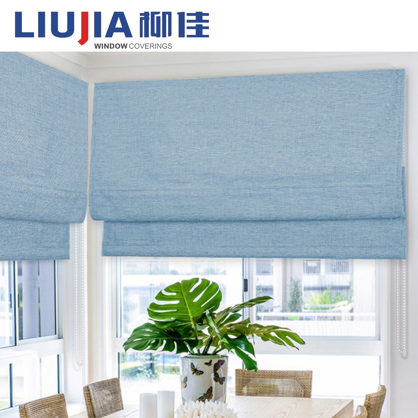 China Home Decoration Manual Chain Roman Roller Blinds Photos ...