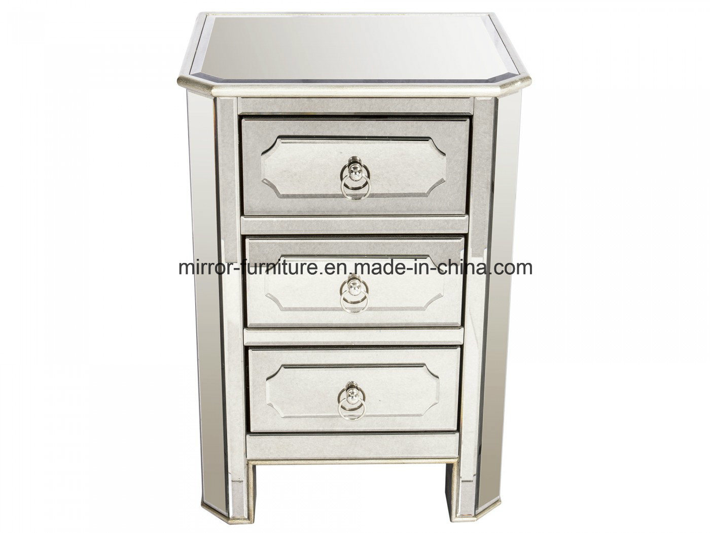 Hot Item Modern Luxury Bedroom Mirrored Nightstand