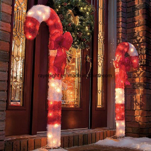China 2017 Popular Customized Candy Cane Christmas Decorative Lights