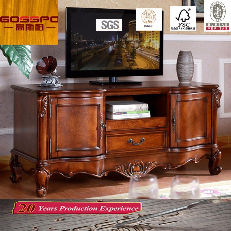 China Fancy Design Teak Wood Tv Stand