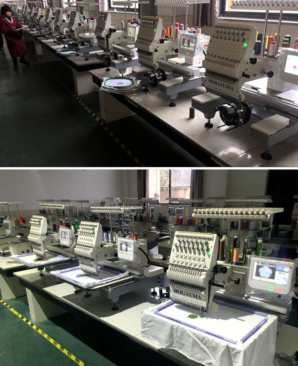 China 1 Head 15 Needle Multi Function Computerized Embroidery
