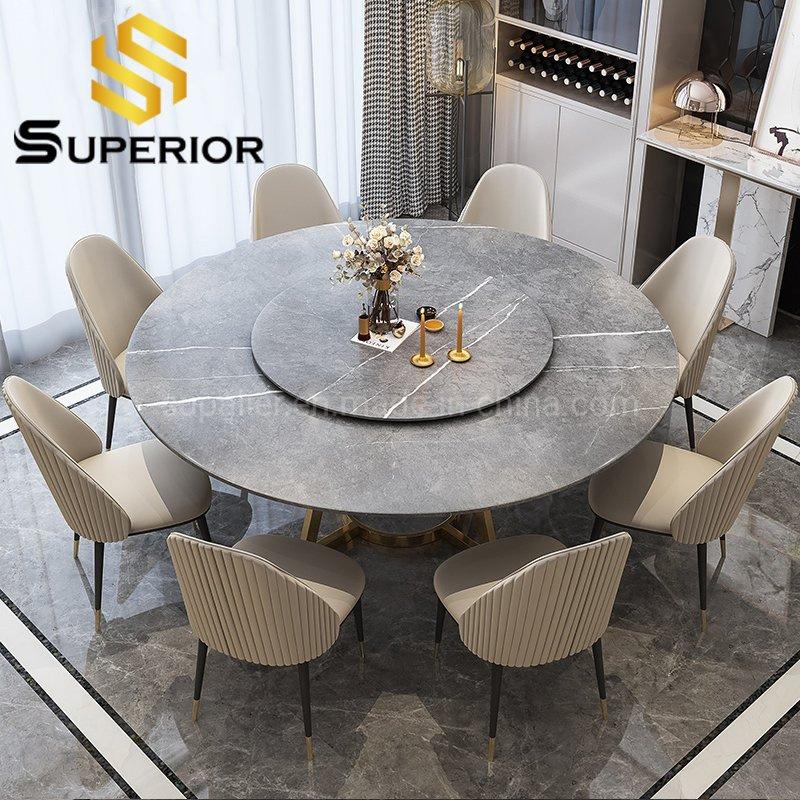 China European Furniture Big Round, Stone Dining Room Furniture