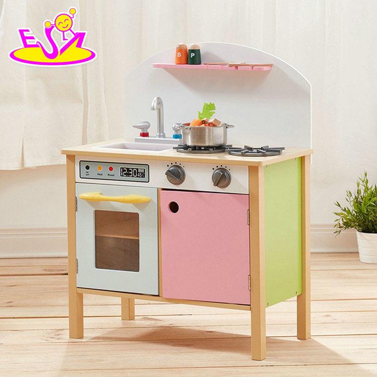 [Hot Item] New Design Children Miniature Wooden Play Kitchen Sets for Sale  W10c330