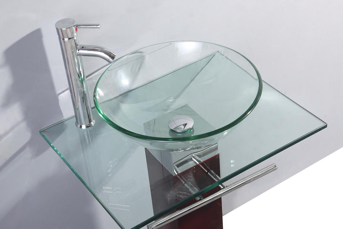 Modern Transparent Glass Basin (TB017) pictures & photos