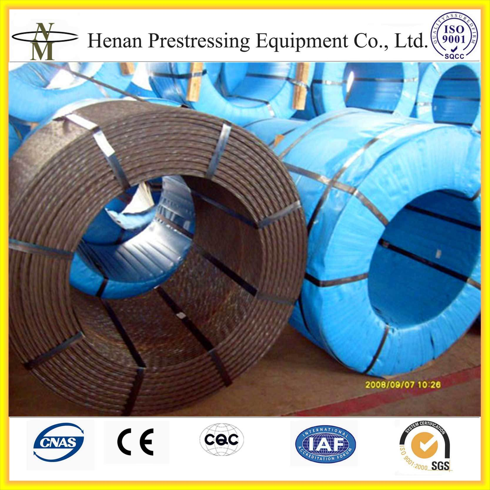 China Bonded Prestressed Strand (PC Strand) for Post-Tensioning ...