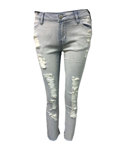 China 2018 Factory New Collection Ladies Skinny Stretch Denim