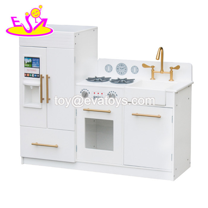 [Hot Item] New Arrival Big White Wooden Play Kitchen Toys for Children  Pretend W10c370e