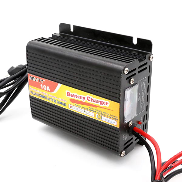 [Hot Item] Hot Sell 12V 10A Three-Stage Automatic Smart Charger for Battery