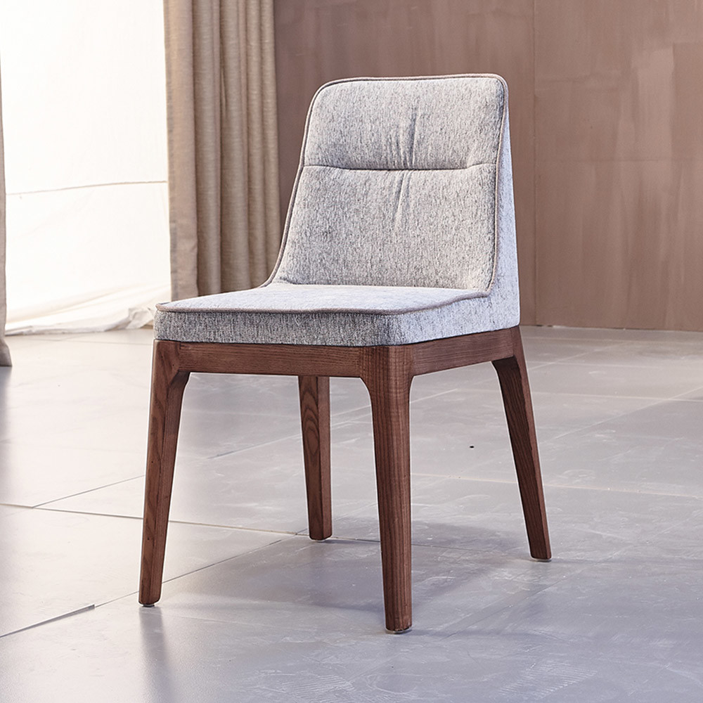 [Hot Item] Fabric Dining Chair with Solid Wood Frame