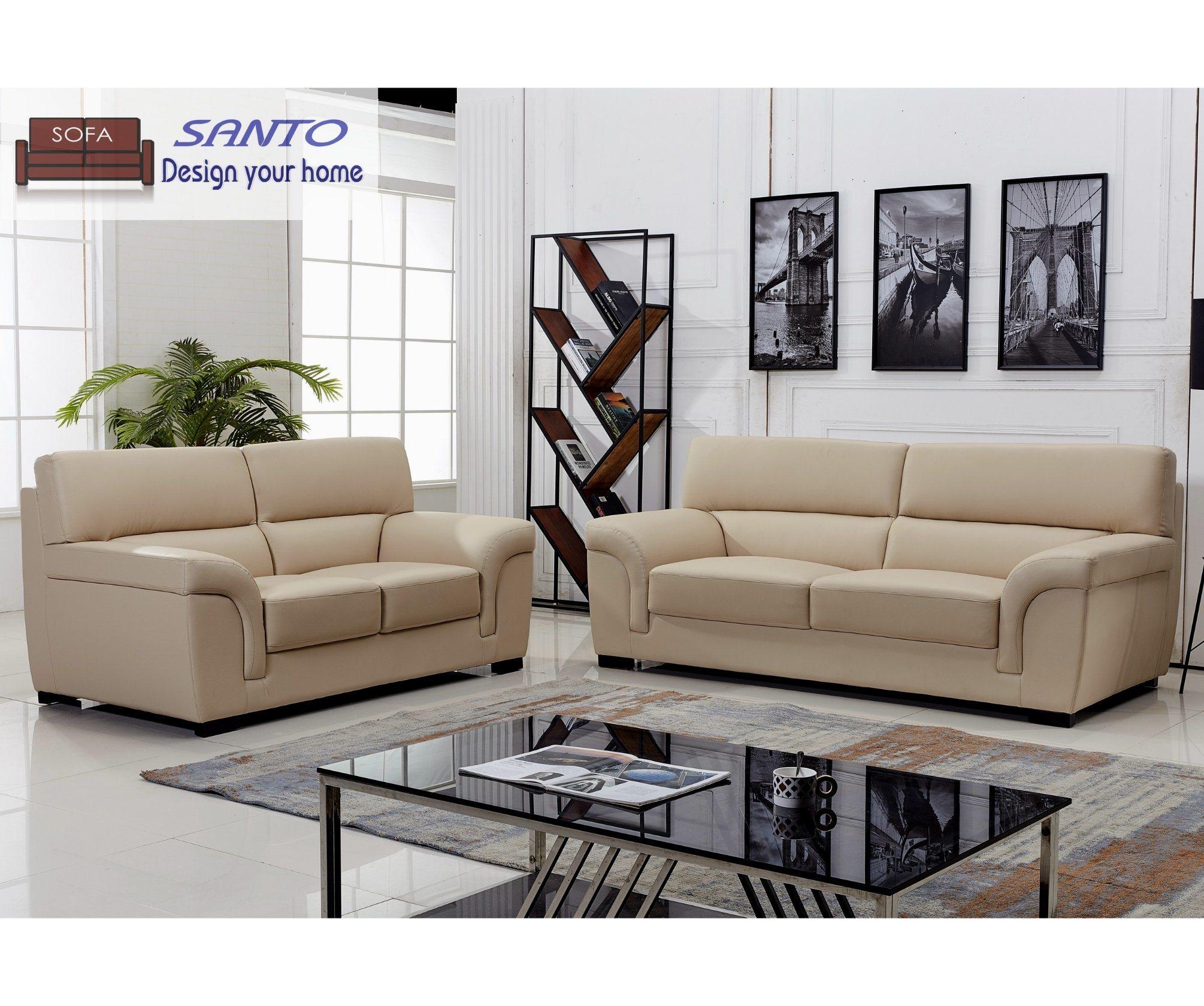 China European Leather Sofa Good Quality Beige Color China Sofa Set 7 Seater Single Seat Leather Sofa