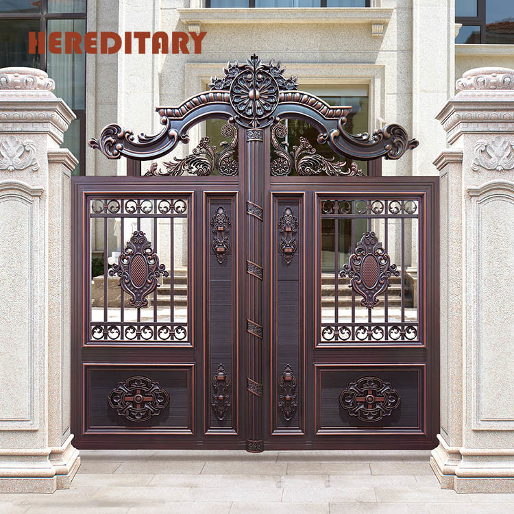 China Outdoor Main Fence Gate Design Wrought Iron Main ... on Iron Get Design  id=48764