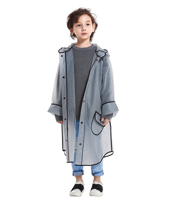 China Teenager Chlid Kids Girl Fashion, Plastic Trench Coat