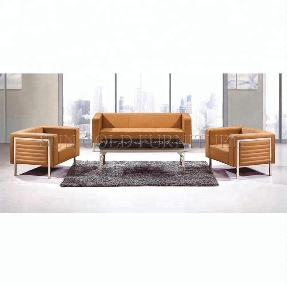 [Hot Item] Cozy Reception Genuine Leather Waiting Couch Office Sofa Set  (SZ-SF46)