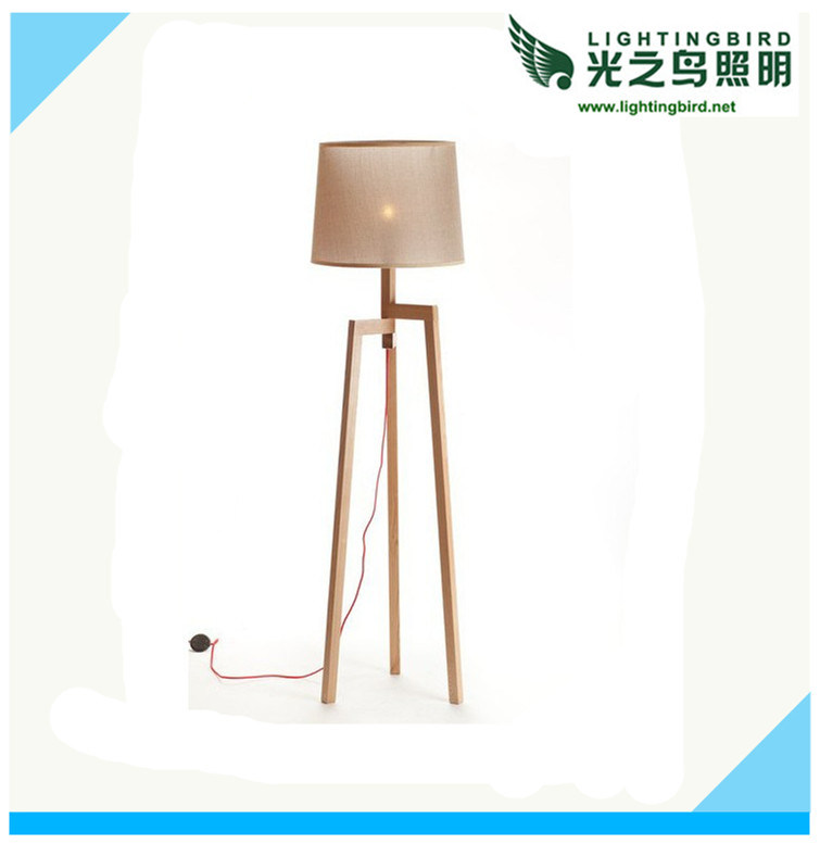 Lightingbird Modern Wood Floor Lamp