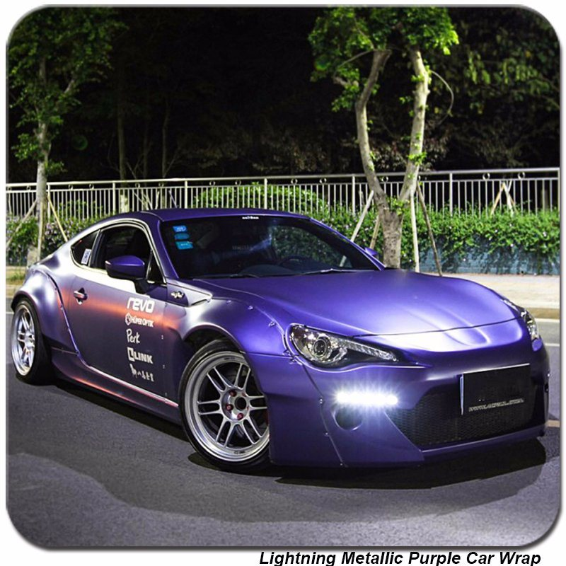 China Tsautop 1 52 20m Lightning Metallic Chrome Purple Car Vinyl