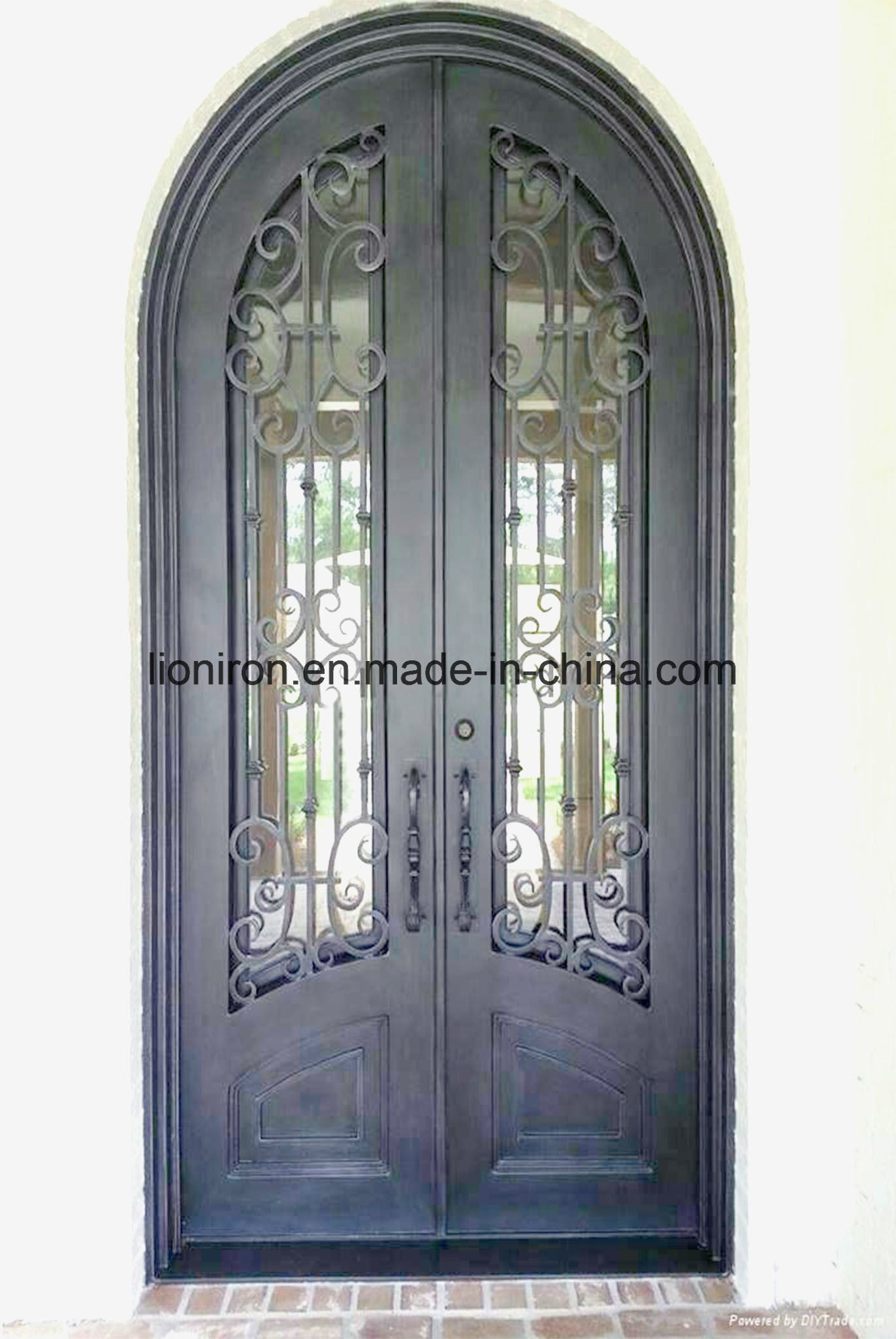 Metal Security Door With Iron Gates Models New Design Screen