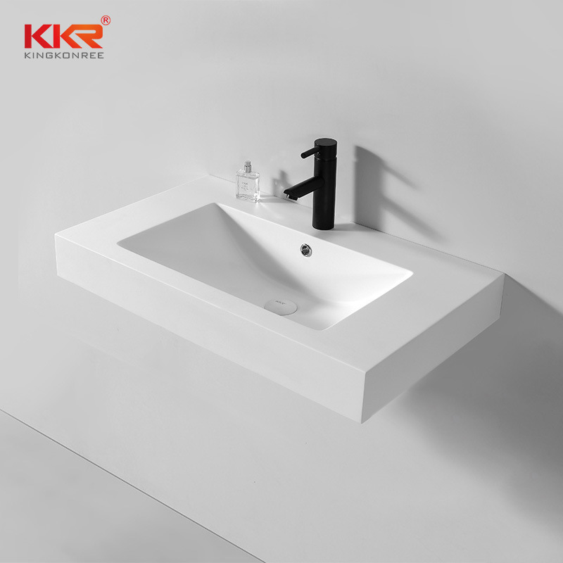 Solid Surface Wall Hung Basin Cabinet, Solid Surface Bathroom Sink