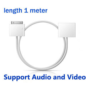 30-Pin-Male-to-30-Pin-Female-Extender-Cable-Adapter-For-Apple-iPod-Nano-iPhone