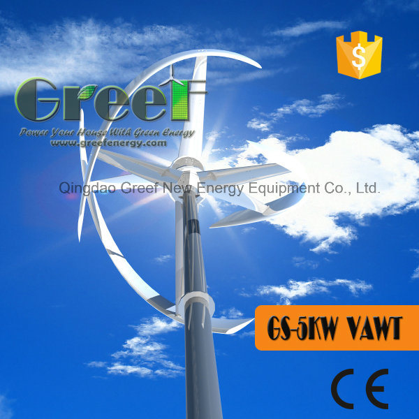 Hot Sales Vertical Axis Wind Turbine 5kw for Home pictures & photos