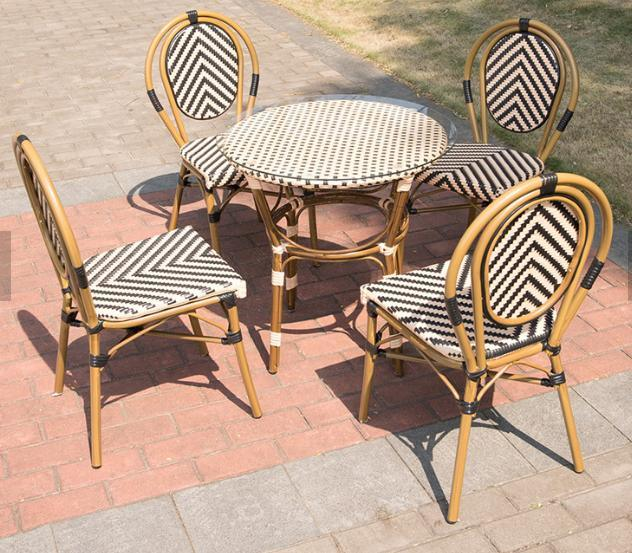 China Good Quality Vintage Outdoor Use, Bamboo Outdoor Furniture Set